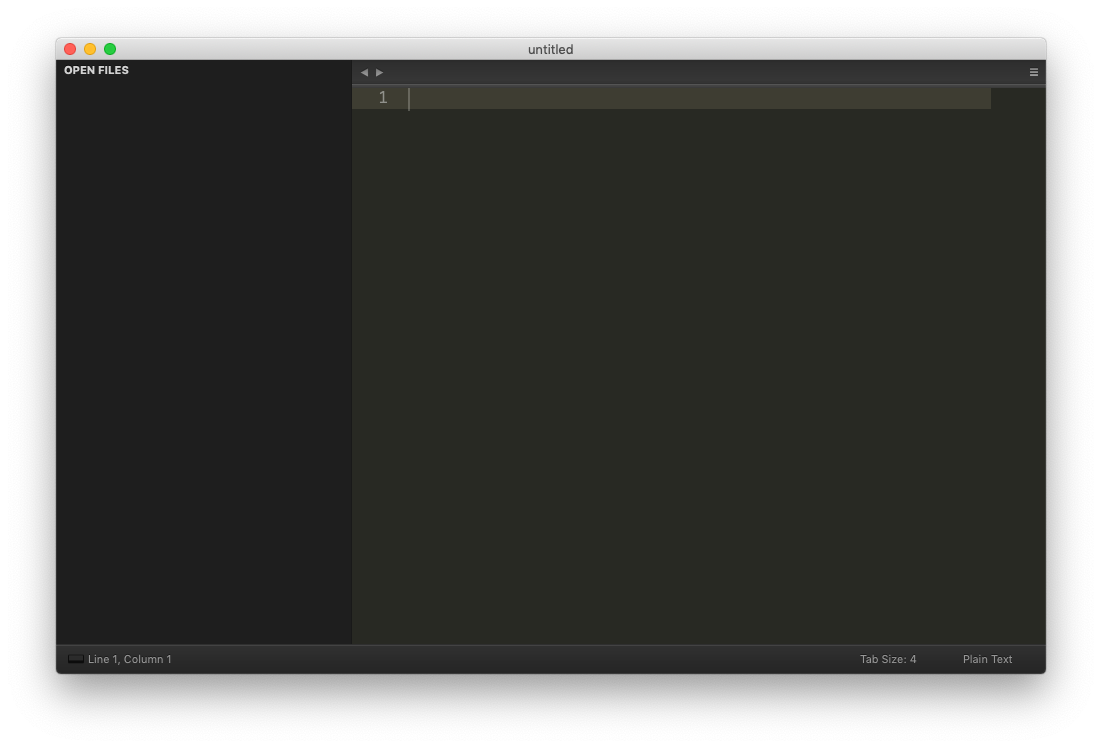 Starting Sublime Text